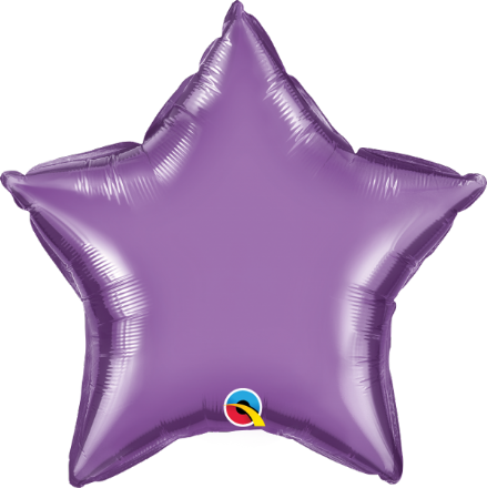 Star Shaped Purple Chrome Foil Helium Balloon